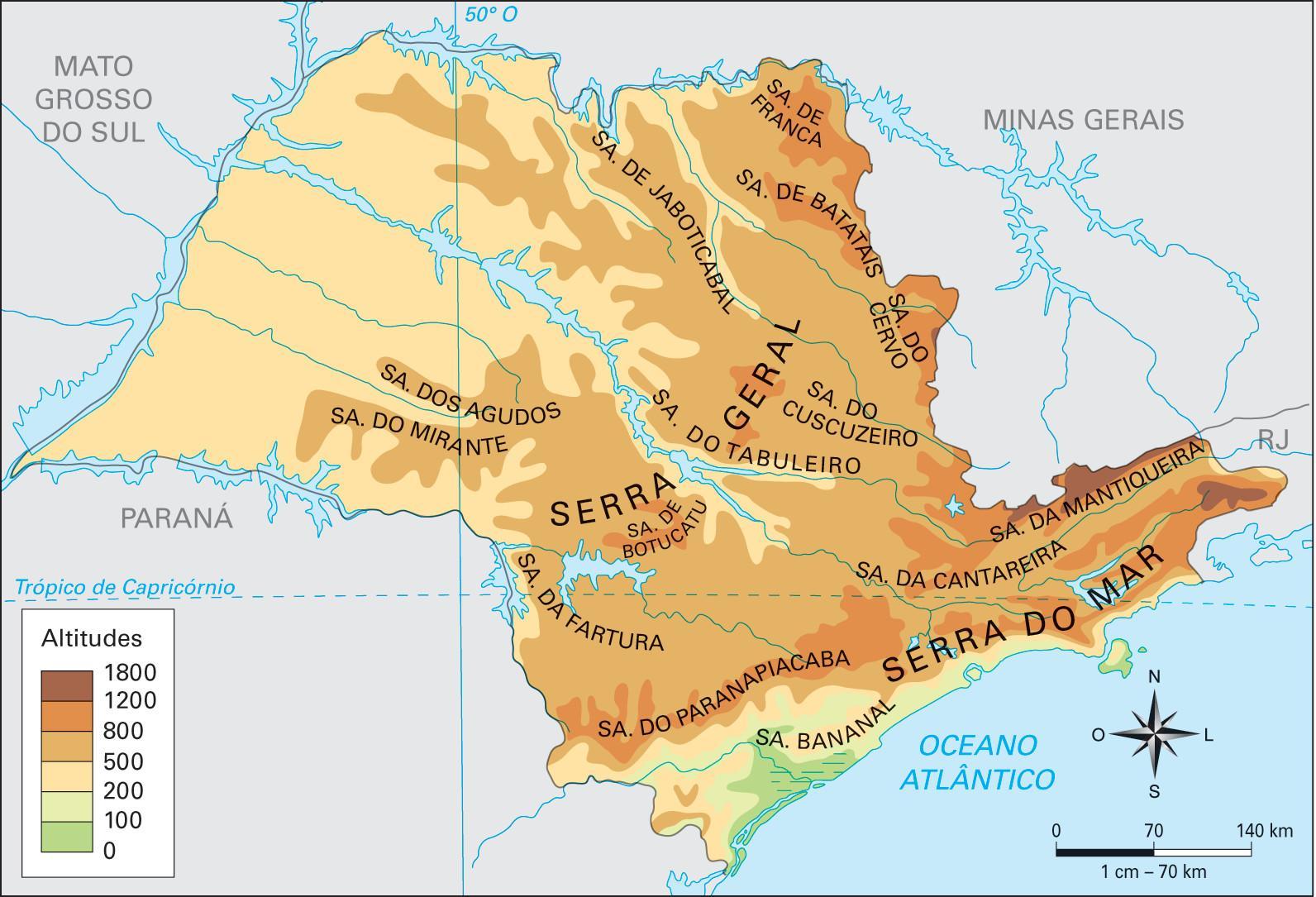 Nadmorska Vyska Sao Paulo Mapa Mapa Nadmorske Vysky Sao Paulo